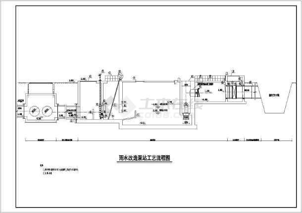 点击查看雨水泵站扩容改造给排水专业全套工艺设计图纸第1张大图