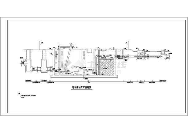 点击查看新建污水泵站给排水专业全套设计工艺图第1张大图