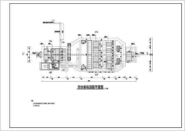 点击查看新建污水泵站给排水专业全套设计工艺图第2张大图