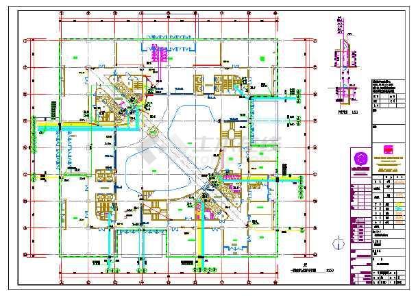 点击查看某大型科技中心大楼给排水施工图(二十五层 总建筑面积164758平方米)第1张大图