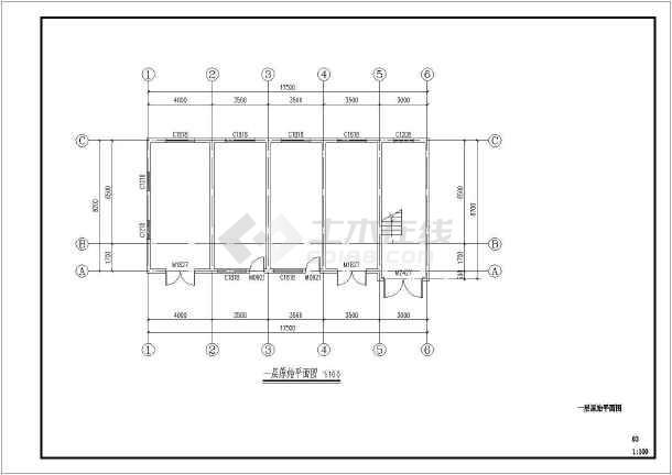 点击查看某庙服务及家宴中心室内设计施工图第1张大图