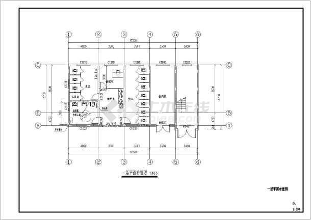 点击查看某庙服务及家宴中心室内设计施工图第2张大图