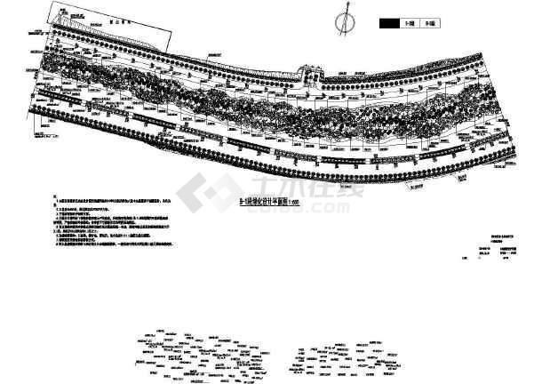 [深圳]景观大道全套园林绿化施工图(附苗木汇总表)-图二