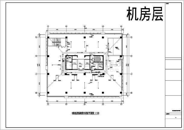 某二十七层医院单层给排水设计施工图-图一