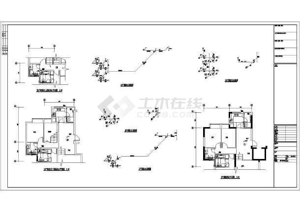 点击查看十二层联拼小高层给排水经典施工图第1张大图