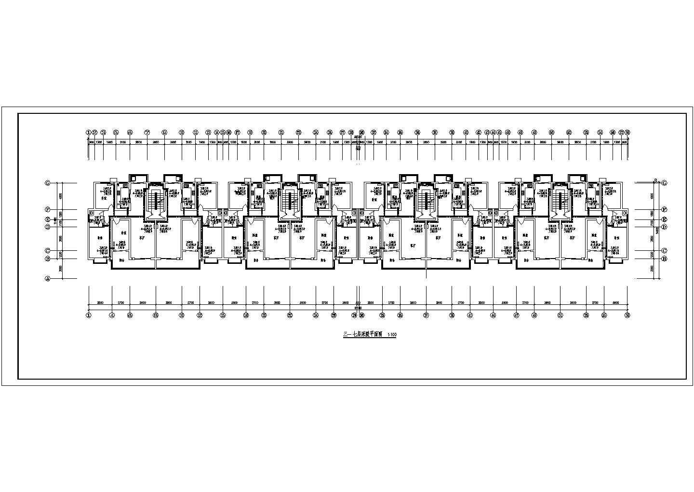 渑池县某商住楼采暖平面图(含设计说明)图片2