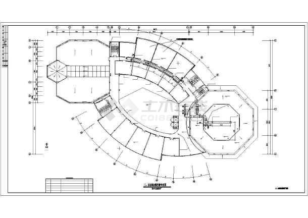 点击查看某四层办公建筑机械排烟平面图(共5张图纸)第1张大图