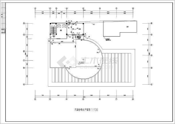 某四层大学食堂给排水设计施工图-图一