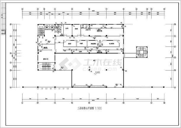 点击查看某四层大学食堂给排水设计施工图第2张大图