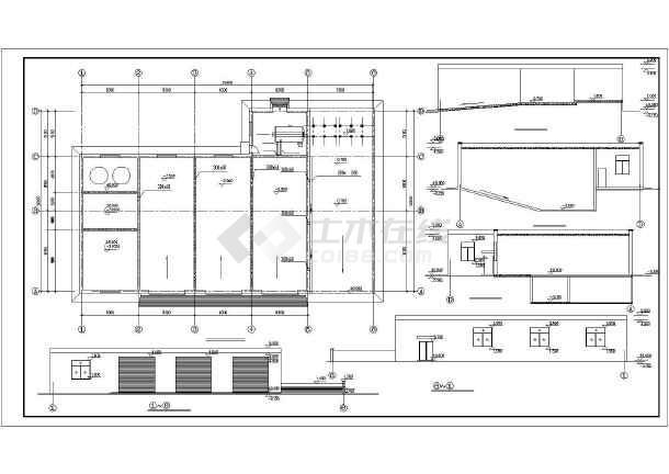 某沉淀池建筑结构图(共5张图纸)-图二