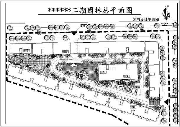 点击查看四川南充某花园小区二期园林施工图第1张大图