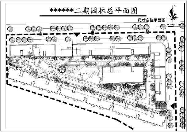 点击查看四川南充某花园小区二期园林施工图第2张大图