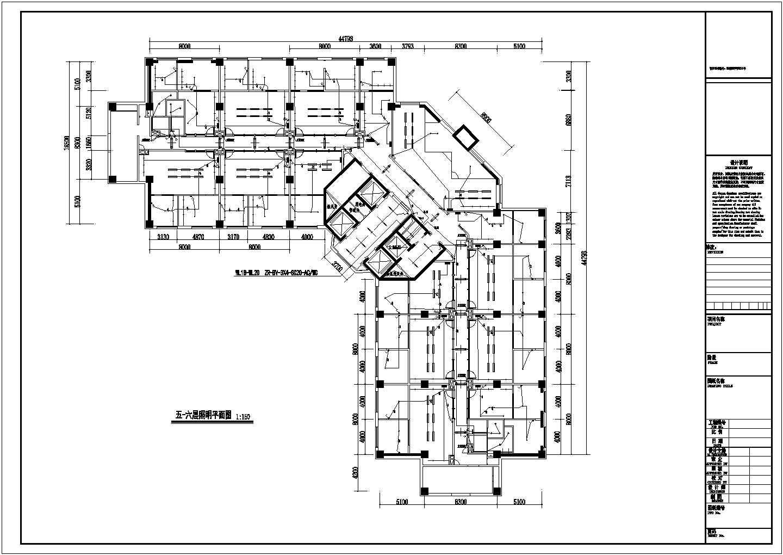某办公楼电气配电平面图图片1