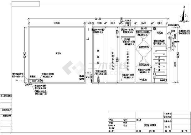 全套医院污水处理工艺布置图-图二