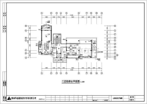 点击查看三层高级别墅给排水施工图第1张大图