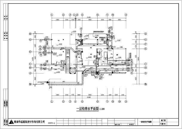点击查看三层高级别墅给排水施工图第2张大图