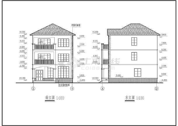 某三层别墅全套建筑结构详图-图二