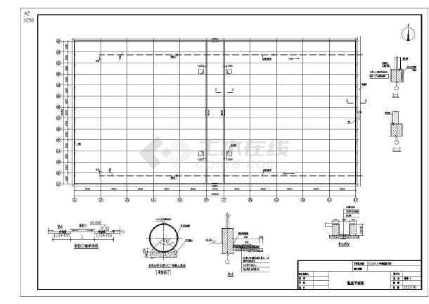 温室大棚建筑设计施工图(含五套图纸)-图二