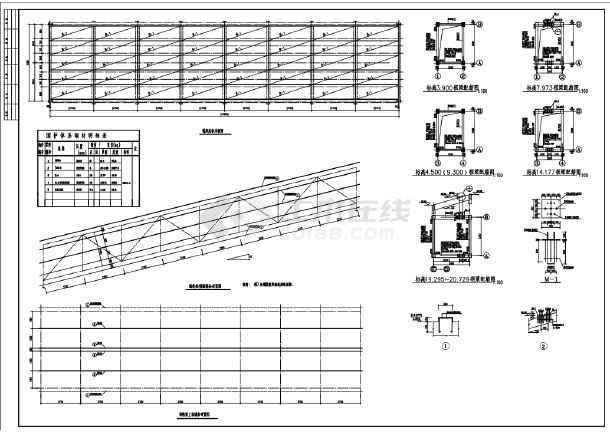 某钢桁架结构节点构造详图-图一
