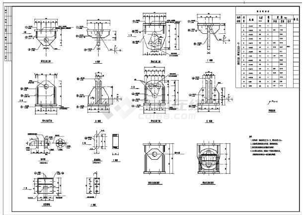 某钢桁架结构节点构造详图-图二