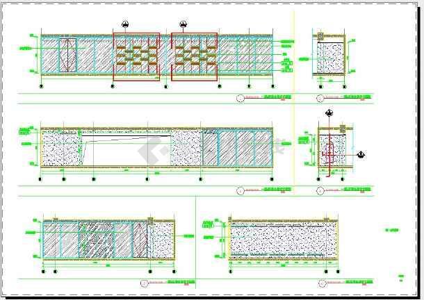 点击查看猡渔乡茶舍室内装修设计 土建立面图第1张大图