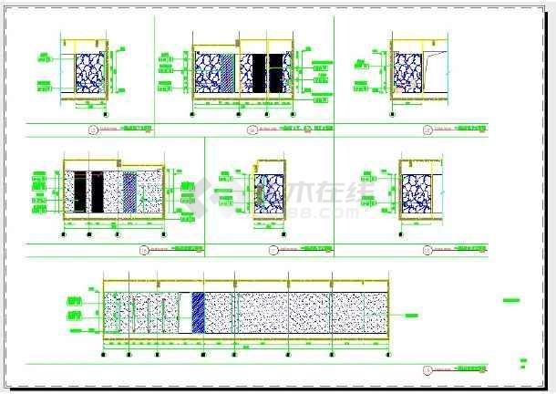 点击查看猡渔乡茶舍室内装修设计 土建立面图第2张大图