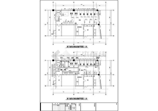 换热站施工cad图(工艺流程图)-图二