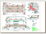 带三联景亭的廊桥施工图图片1