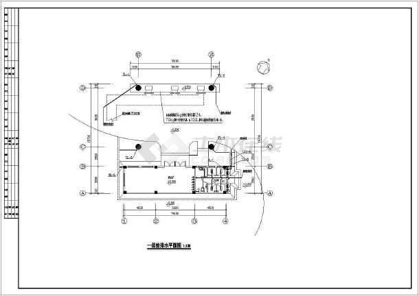 【福建】某加油站给排水施工图-图二