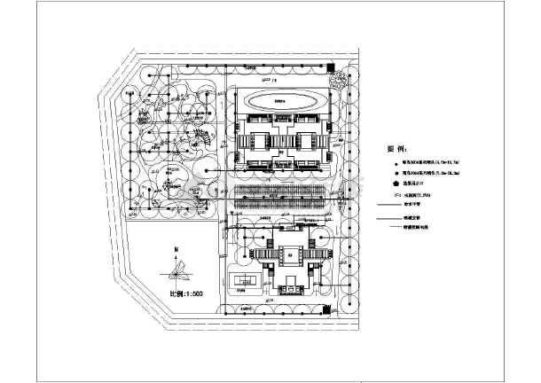 某小区给排水施工图,含设计说明-图一