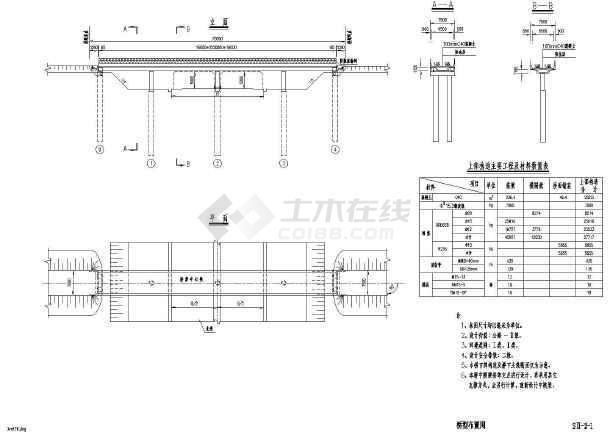 16+2x20+16m现浇连续箱梁桥上部结构标准图(87张现行规范)-图一