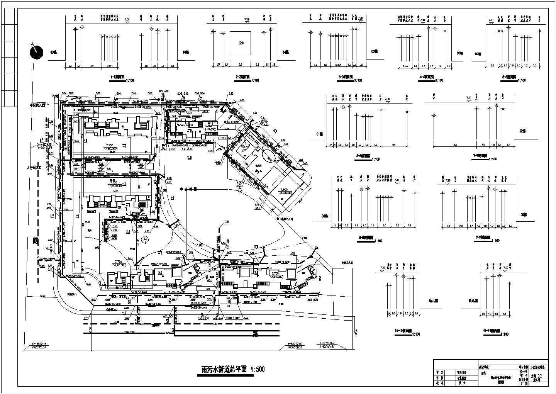 江苏某小区排水管道平面布置图图片3