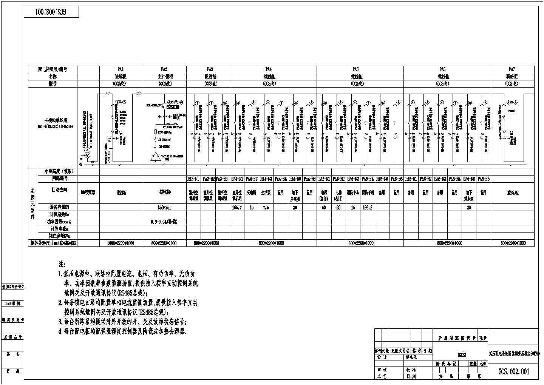 某大学低压一次配电系统图(共6张图纸)图片1