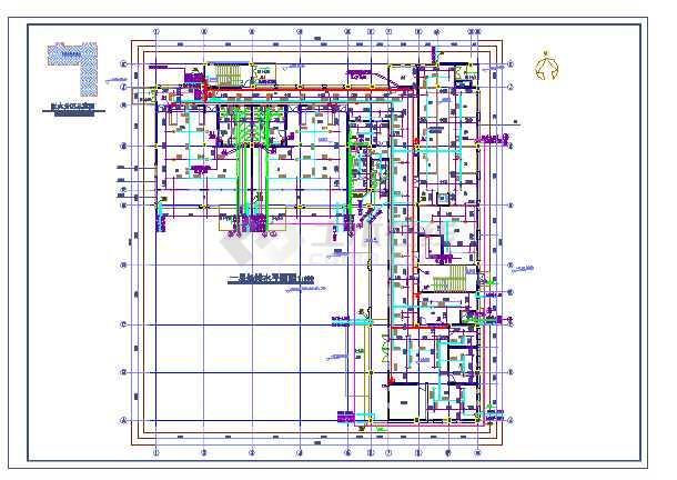 点击查看某幼儿园新建工程给排水施工图(建筑面积1124平方米)第1张大图