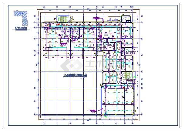点击查看某幼儿园新建工程给排水施工图(建筑面积1124平方米)第2张大图