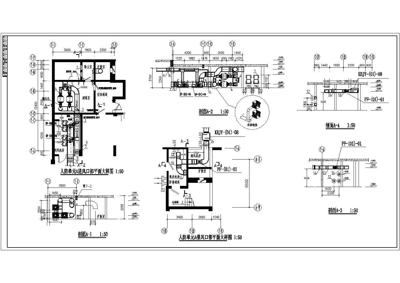 某地下车库通风平面图(共8张图纸)图片1