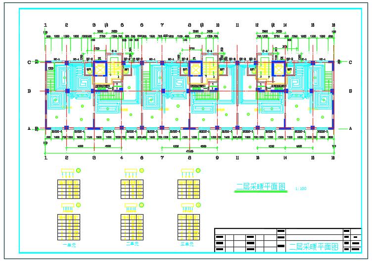 某地上十四层商住楼采暖图(共6张图纸)图片3