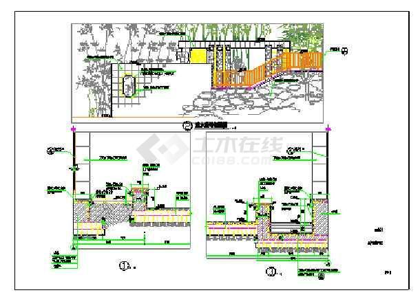 各种类型的特色园林景墙施工详图(含20个)-图二