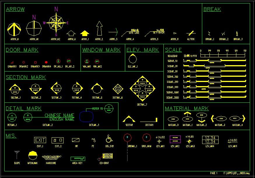 CAD素材图库(共13张图纸)图片1