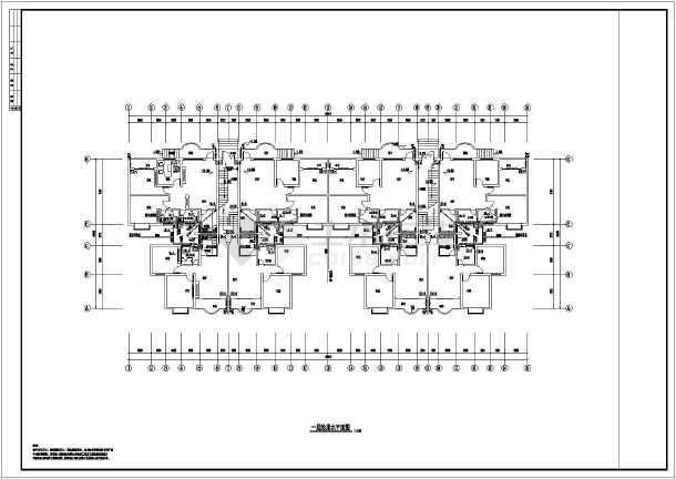 点击查看某六层小区全套建筑给排水施工图第1张大图