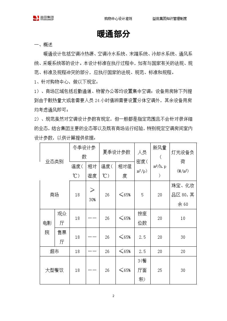 购物中心设计准则(空调、电气.给排水)-图二