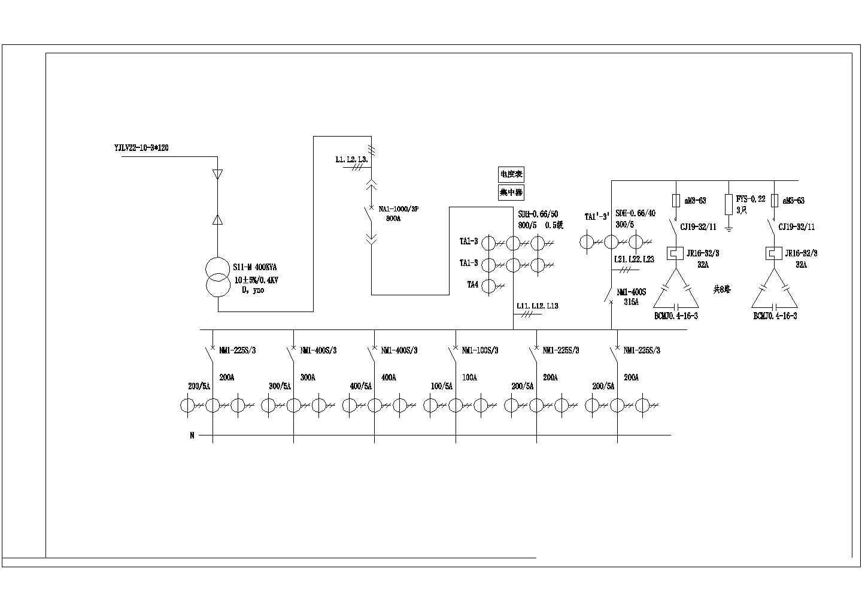 箱式变电站低压配电原理图图片1