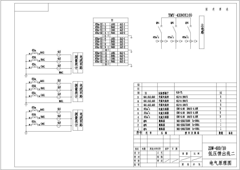 箱式变电站低压配电原理图图片3