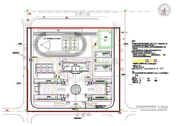 S县SSS实验小学扩建工程--给排水-图一