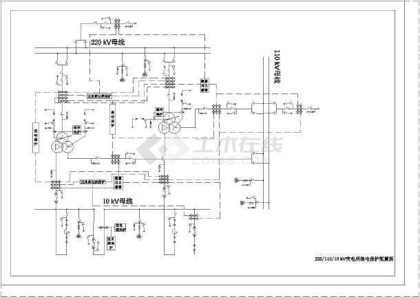 点击查看某大学电气工程及其自动化专业变电所设计图(毕业设计)第2张大图