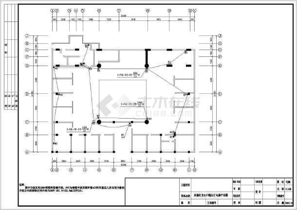 点击查看网吧电气照明设计与应急照明设计cad图第1张大图