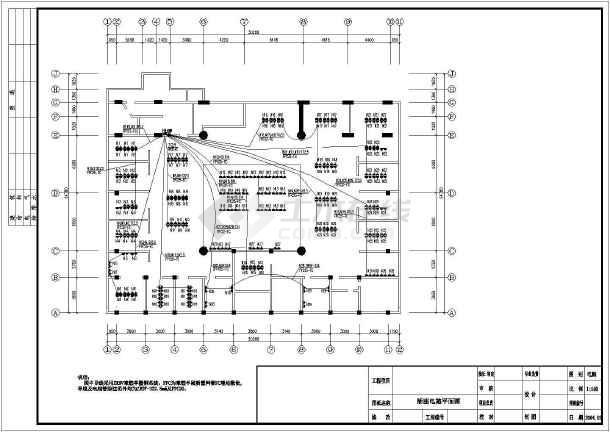 点击查看网吧电气照明设计与应急照明设计cad图第2张大图