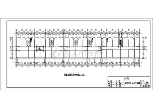 某六层住宅楼暖通设计cad图-图二
