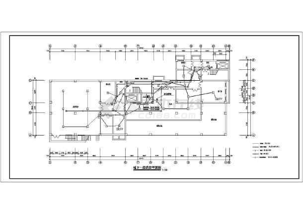 某医院电气消防设计cad图,共8张-图一