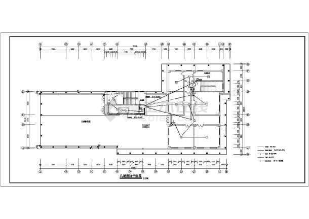 某医院电气消防设计cad图,共8张-图二